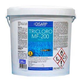 Desinfectante algicida piscinas tricloro multifuncion mf200 25kg disarp