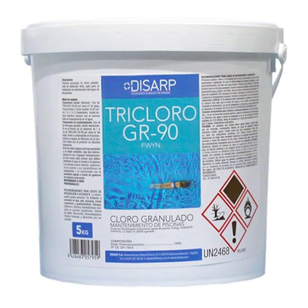 Cloro granulado para piscinas Tricloro GR90 de DISARP