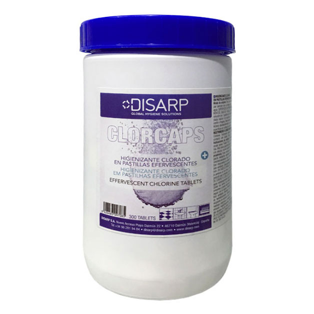 lejía sólida desinfectante clorcaps disarp