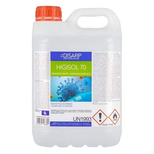 desinfectante higisol70 5l disarp