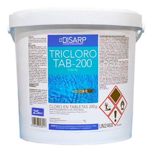 desinfectante piscinas tricloro tab200 disarp 25kg