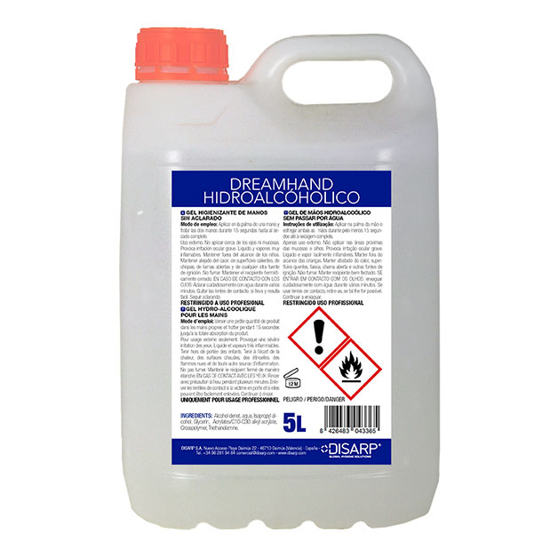 Gel hidroalcohólico desinfectante de manos Dreamhand de DISARP