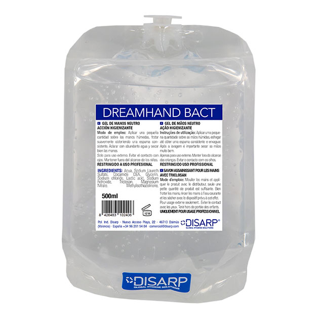 Gel lavamanos Dreamhand Bact EcoZ de DISARP – 12uds