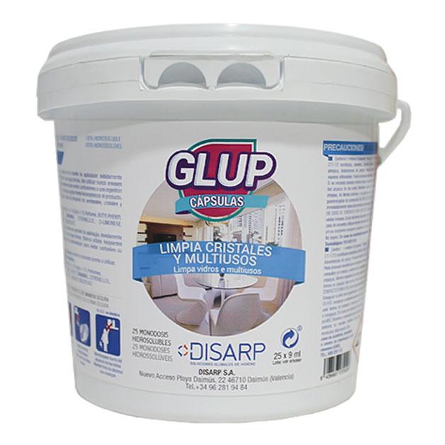 Glup – limpiacristales multiusos en capsulas de DISARP