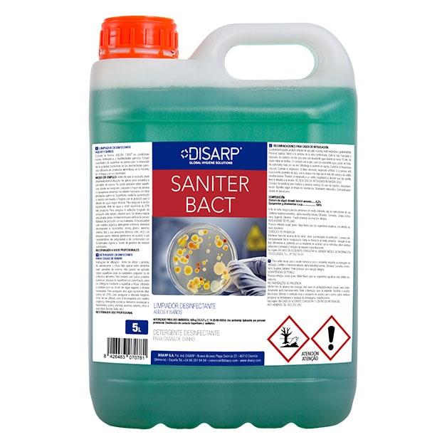 Limpiador bactericida y fungicida Saniter Bact de Disarp