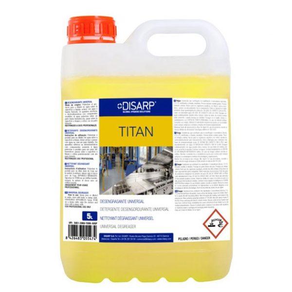 limpiador desengrasante titan 5L disarp