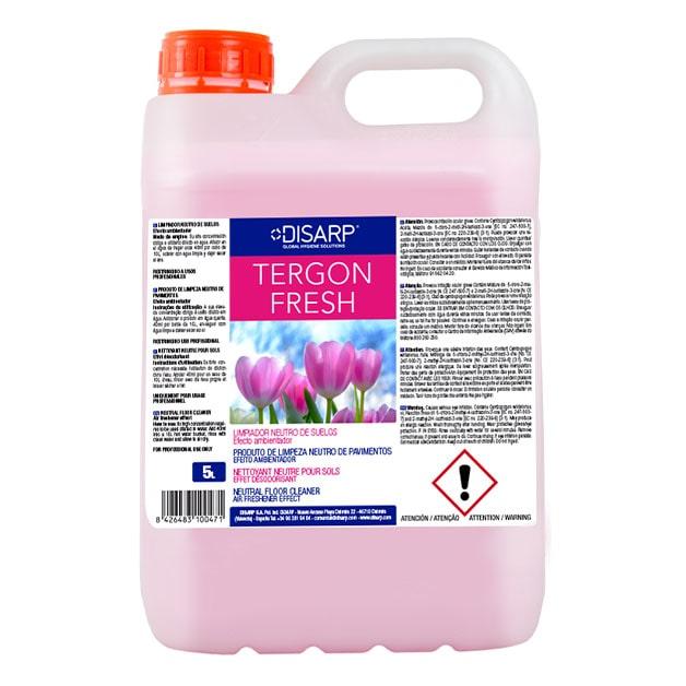 Limpiador detergente concentrado Tergon fresh de DISARP