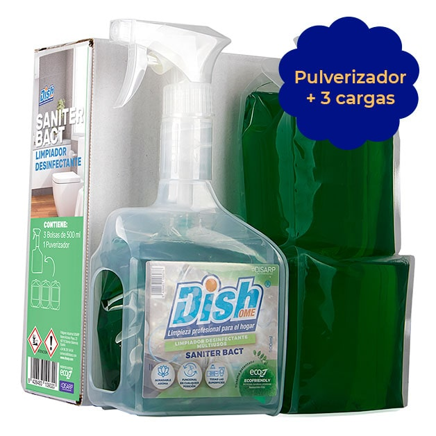 limpiador perfumado saniter bact ecoz pulverizador dishome
