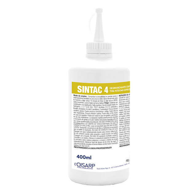 Limpiamanchas proteicas Sintac 4 de DISARP