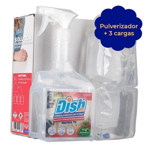 solucion hidroalcoholica desinfectante ecoz pulverizador dishome