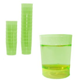 vaso chupito plastico verde 1000uds