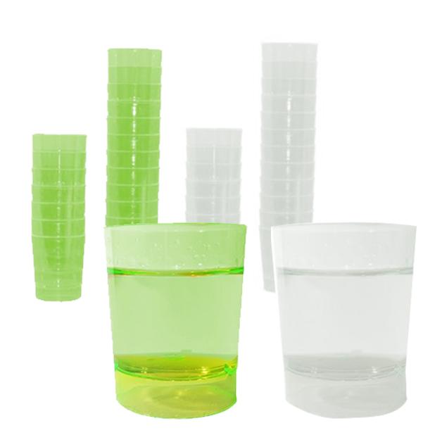 Vaso chupito plástico verde – 1000 uds